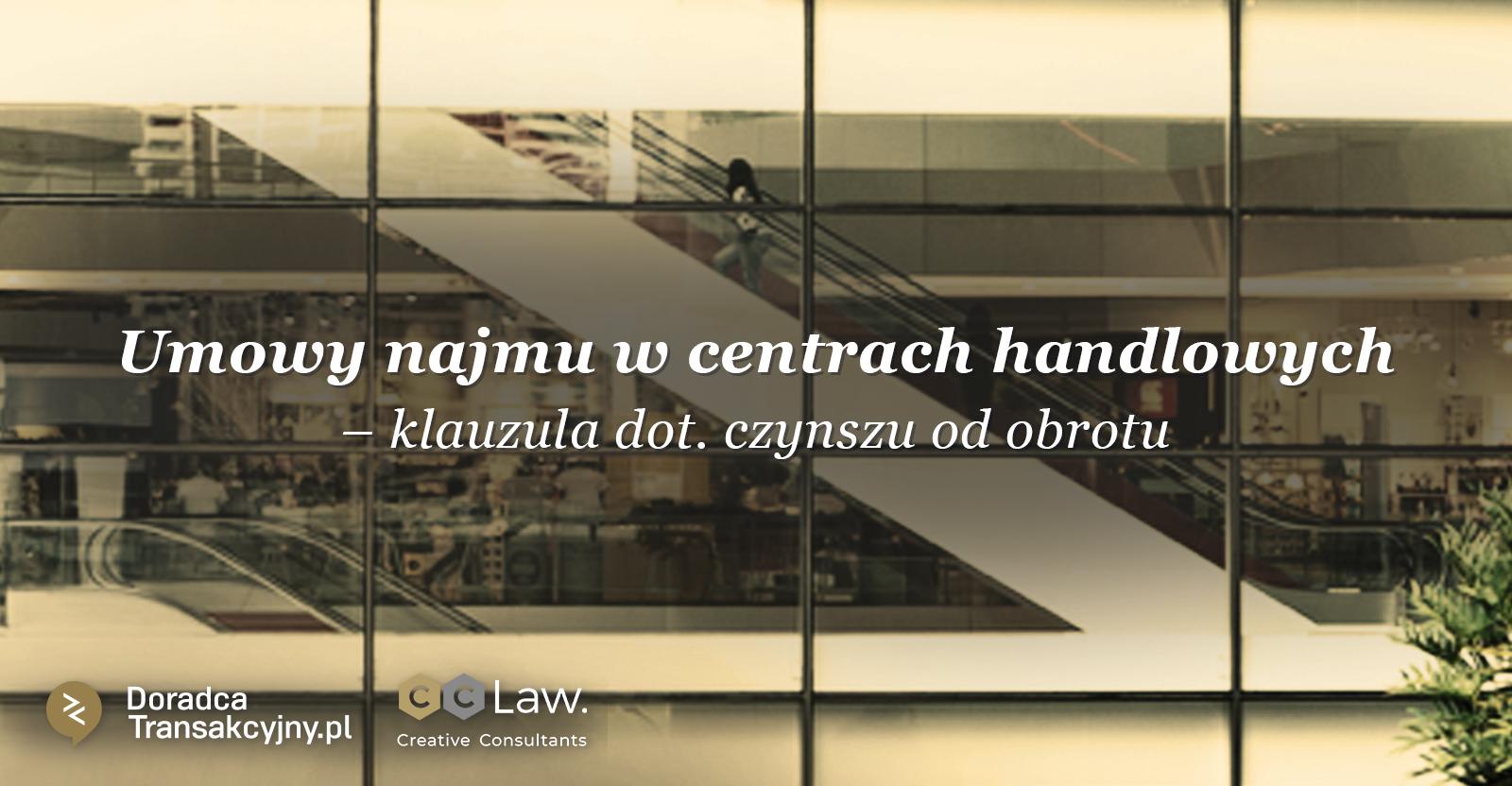 umowy najmu w centrach handlowych czynsz od obrotu
