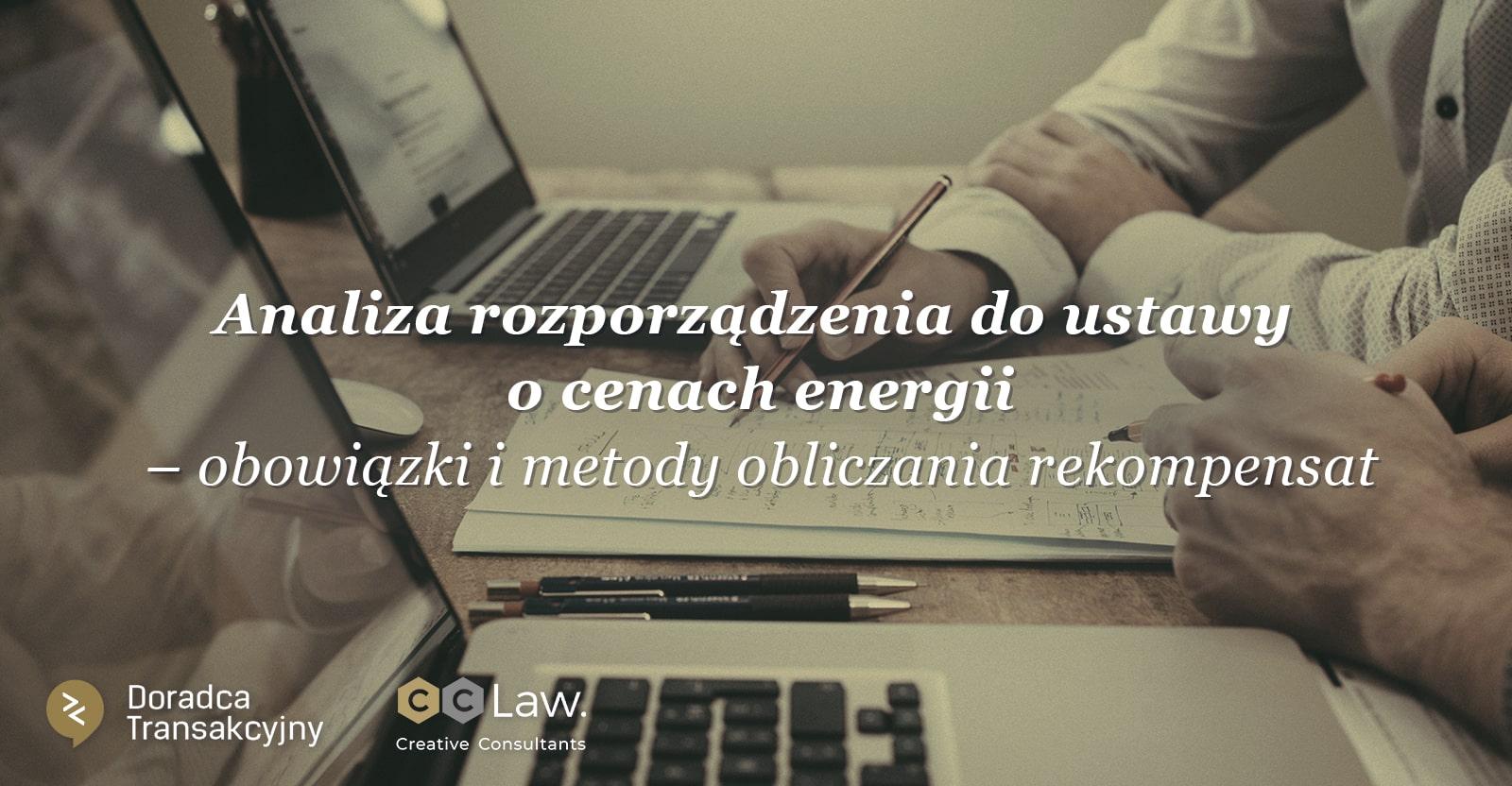rozporządzenie do ustawy o cenach energii - rekompensaty