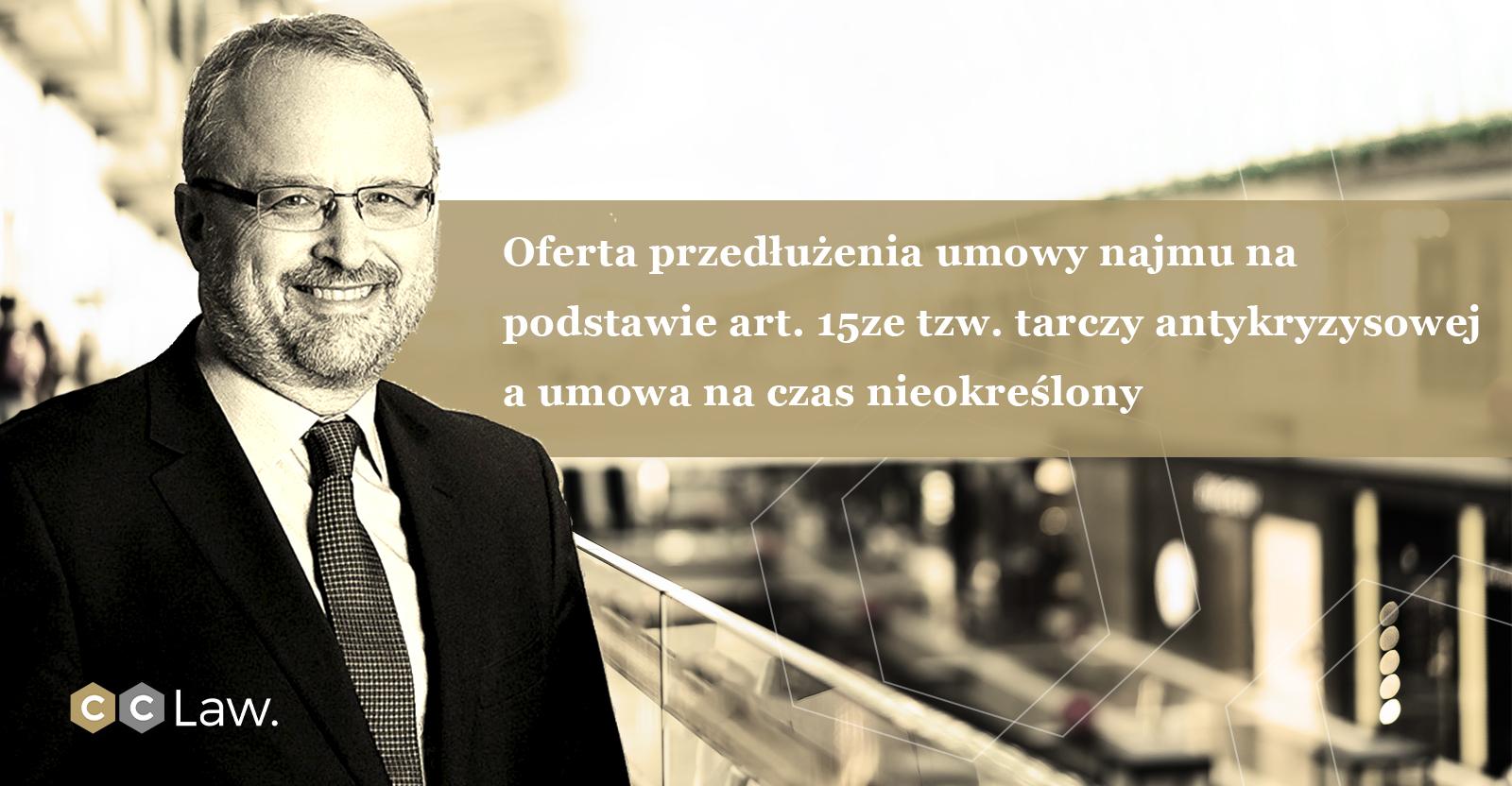 Oferta przedłużenia umowy najmu na podstawie art. 15ze tzw. tarczy antykryzysowej a umowa na czas nieokreślony