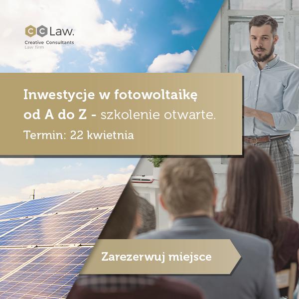 Inwestycje w fotowoltaikę od A do Z – szkolenie otwarte. Termin: 22 kwietnia.