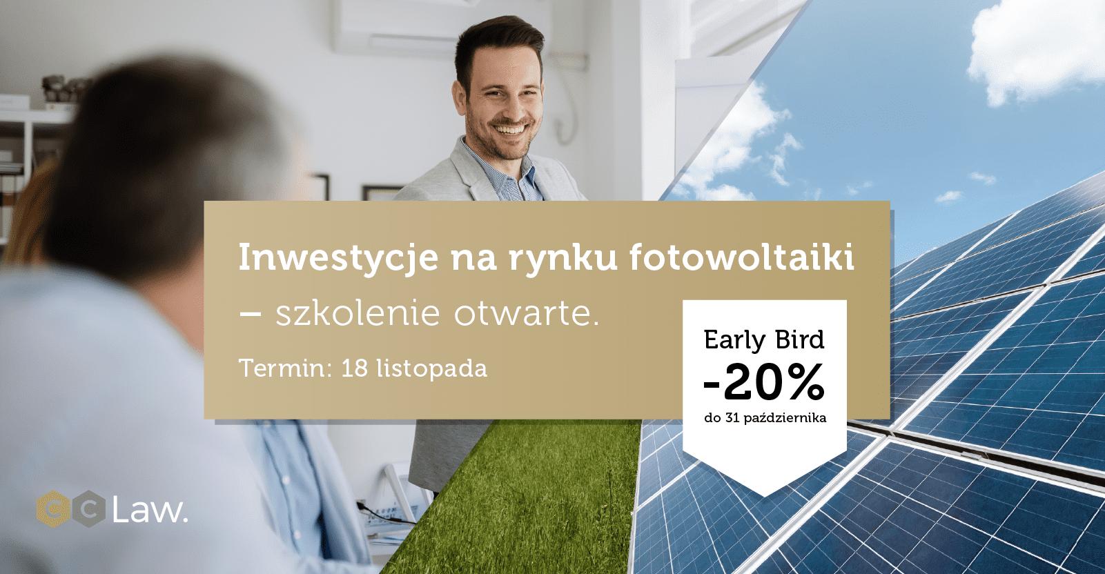 Szkolenie inwestycje na rynku fotowoltaiki